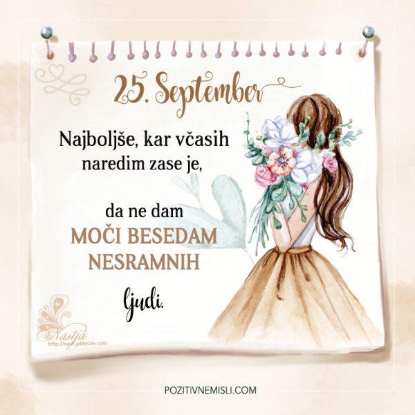 25. September - Pozitivčica - Misel dneva - Nastja Klevže