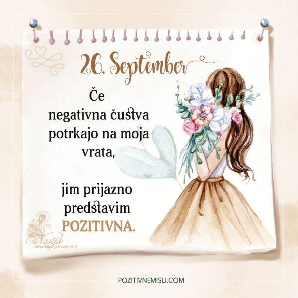 26. September - Pozitivčice - Misel dneva