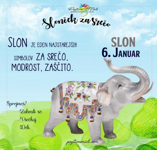 6. januar - 365 srečnih dni - slon za srečo