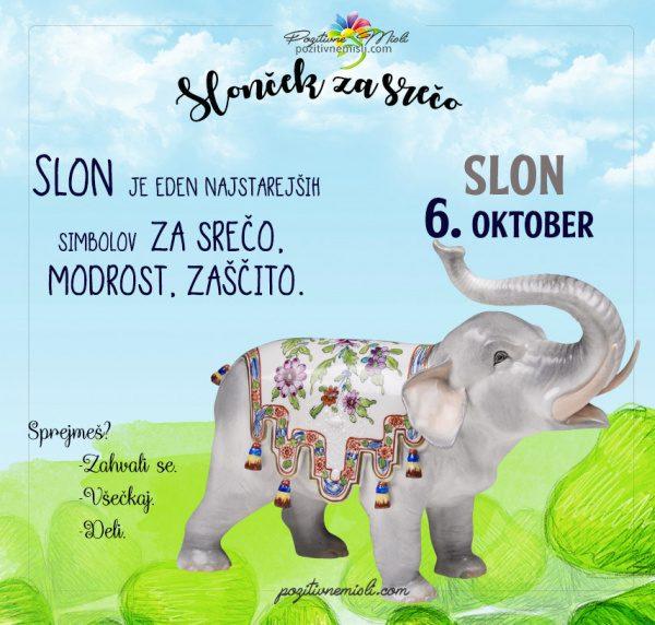 6. oktober - 365 srečnih dni - slon za srečo