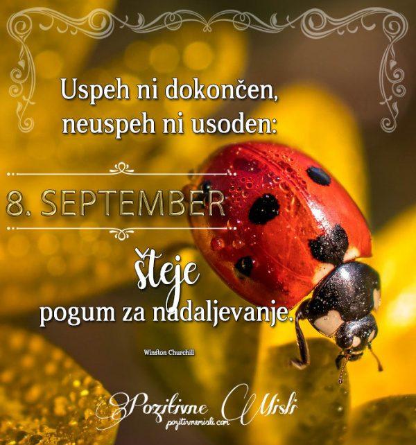 8. september - 365 misli koledar lepih misli o življenju