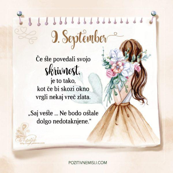 9. September - Pozitivčica za današnji dan