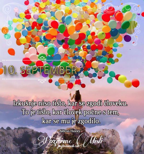 10. september - 365 misli koledar lepih misli o življenju