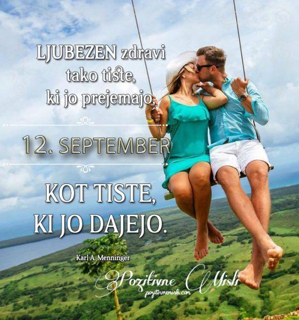 12. september - 365 misli koledar lepih misli o življenju