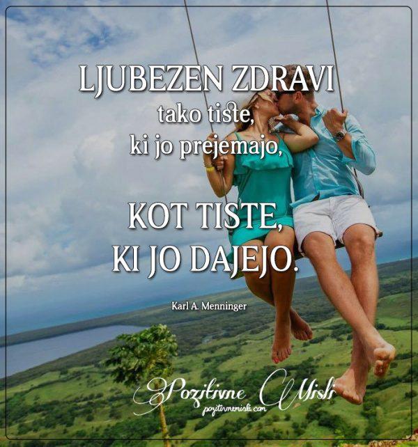 Ljubezen zdravi tako tiste - Misli o ljubezni