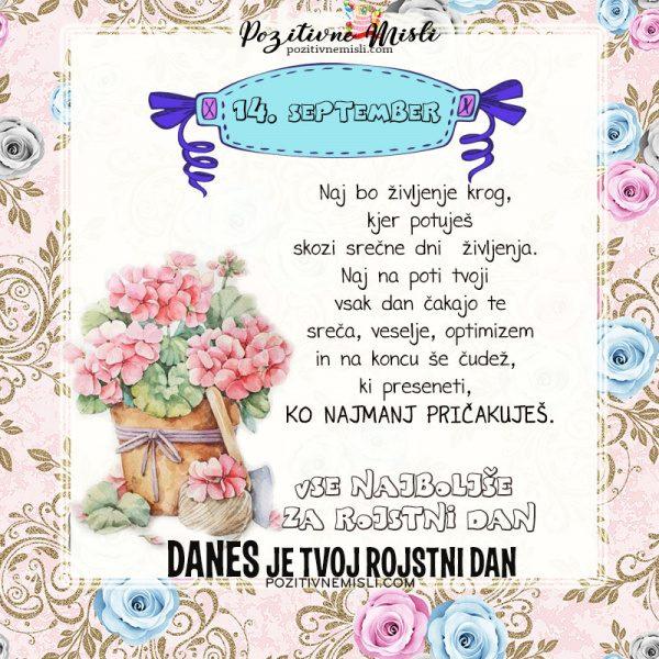 14. september - voščilo za rojstni dan - Pozitivčice