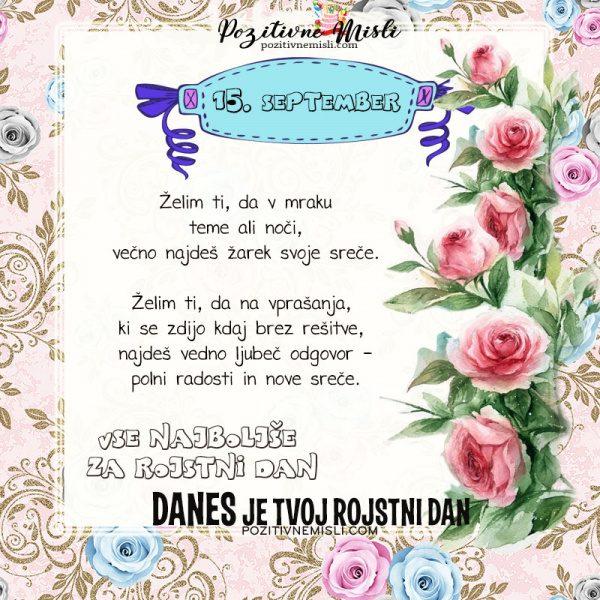 15. september - voščilo za rojstni dan - Pozitivčice