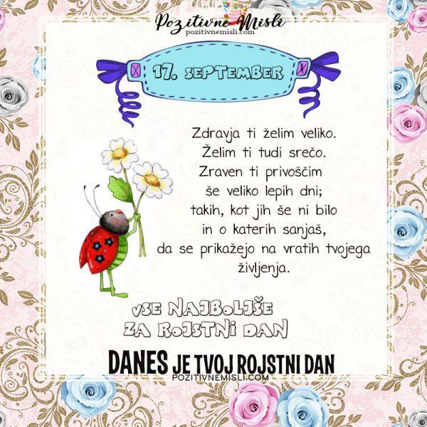 17. september - voščilo za rojstni dan - Pozitivčice