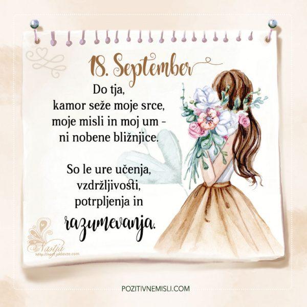 18. September - Pozitivčica za današnji dan