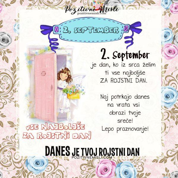 2. september - voščilo za rojstni dan - Pozitivčice