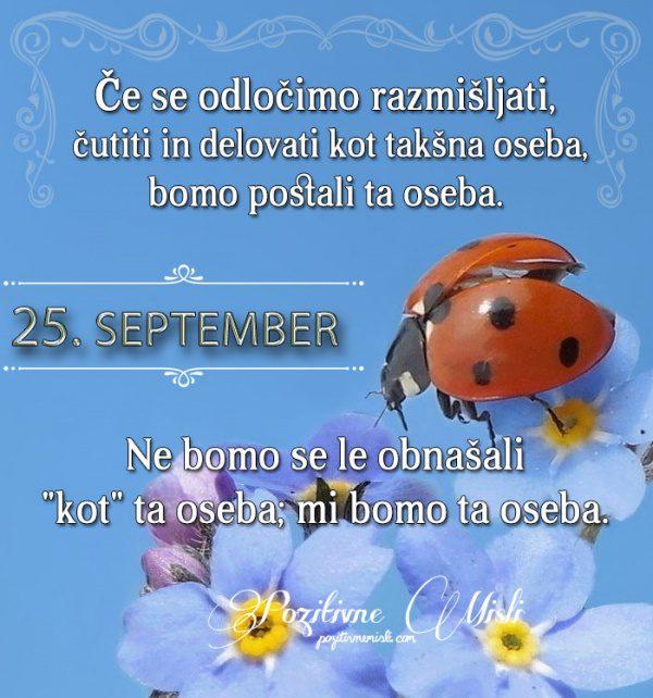 25. september - 365 misli koledar lepih misli o življenju