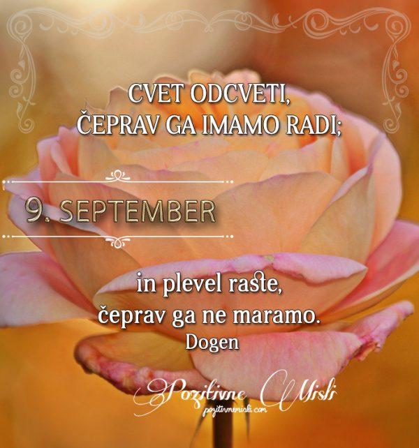 9. september - 365 misli koledar lepih misli o življenju