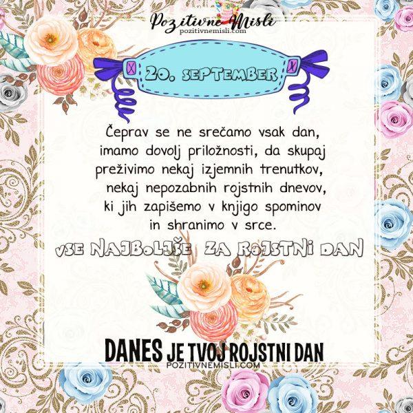 20. september - voščilo za rojstni dan - Pozitivčice