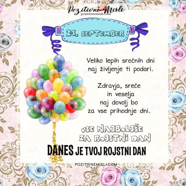 21. september - voščilo za rojstni dan - Pozitivčice