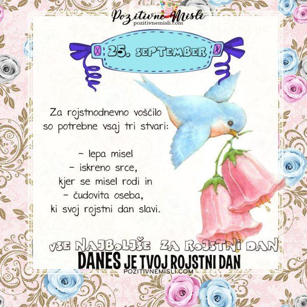 25. september - voščilo za rojstni dan - Pozitivčica