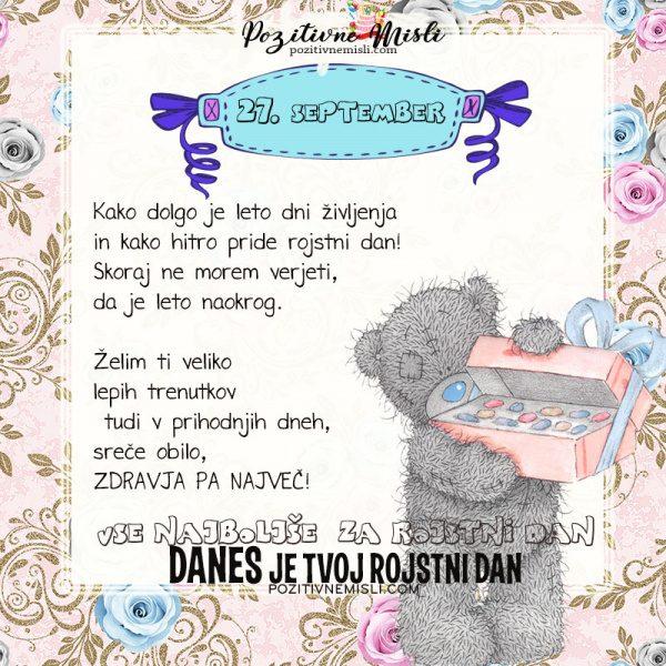 27. september - voščilo za rojstni dan - Pozitivčica