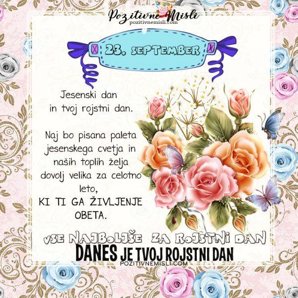23. september - voščilo za rojstni dan - Pozitivčice