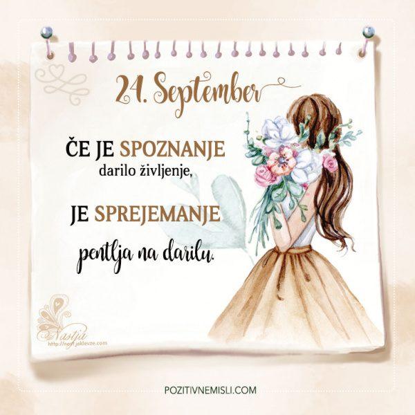 24. September - Pozitivčice - Misel dneva - Nastja Klevže