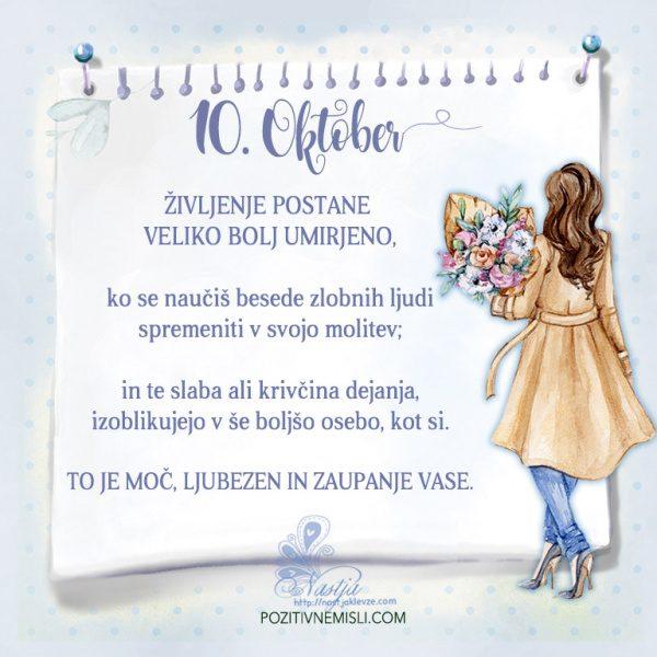 10. Oktober- Pozitivčica za današnji dan - Nastja Klevže-