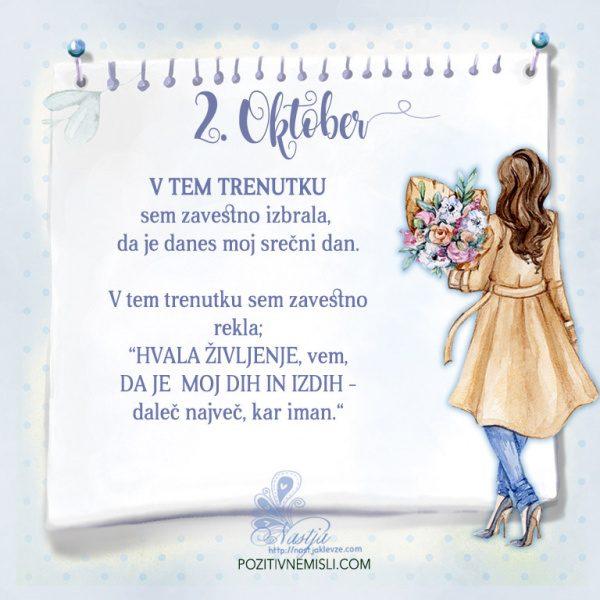 2. Oktober- Pozitivčica za današnji dan