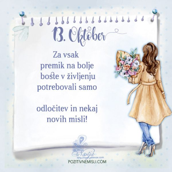 13. Oktober- Pozitivčica za današnji dan