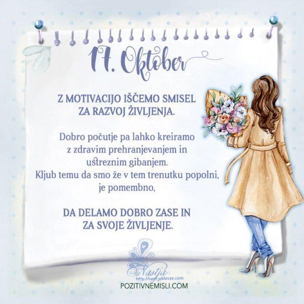 17. Oktober- Pozitivčica za današnji dan - Nastja Klevže