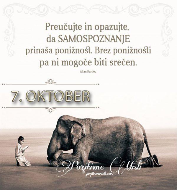 7. oktober - 365 misli koledar lepih misli o življenju