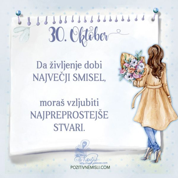 30. Oktober- Pozitivčica za današnji dan