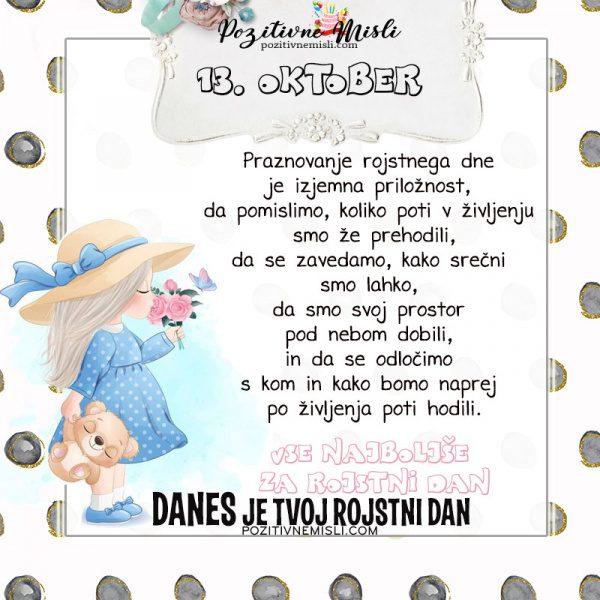 13. oktober - voščilo za rojstni dan- Pozitivčice