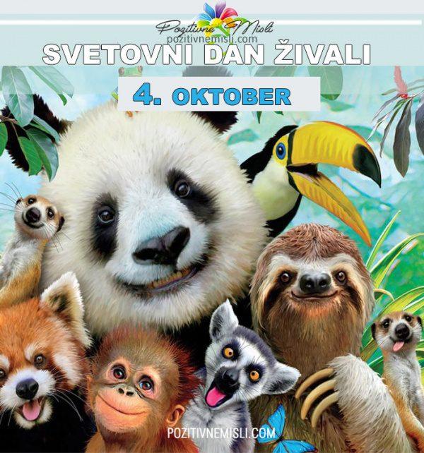 4. oktober - svetovni dan živali