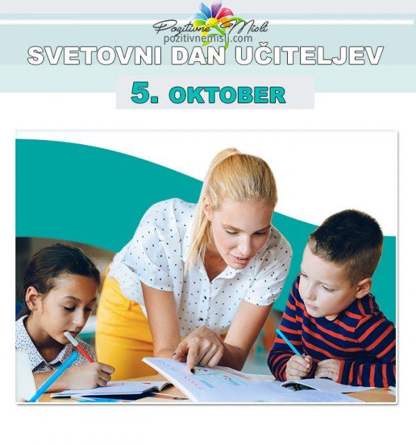 5. oktober - svetovni dan učiteljev