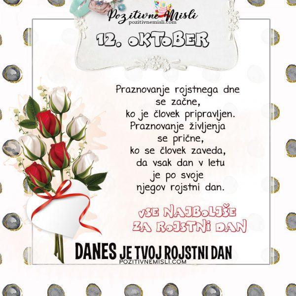 12. oktober - voščilo za rojstni dan - Pozitivčice