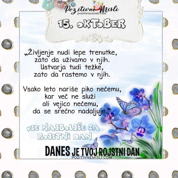 15. oktober - voščilo za rojstni dan - Pozitivčice