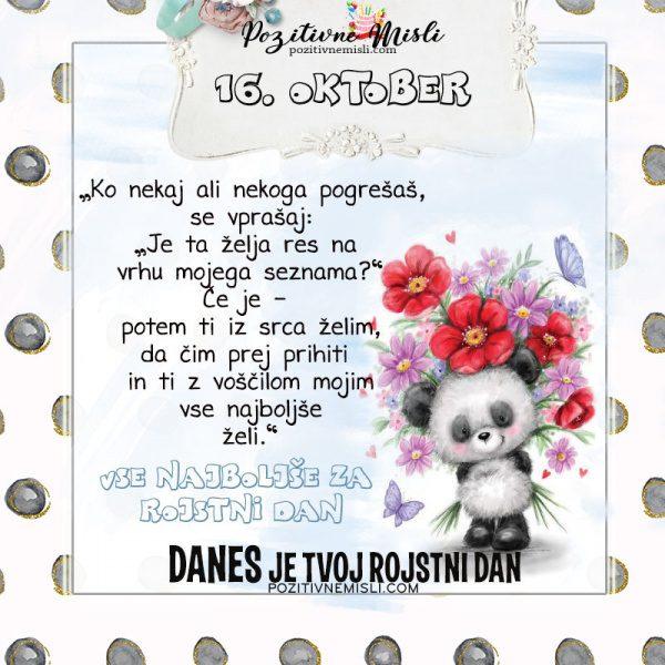 16. oktober - voščilo za rojstni dan- Pozitivčice