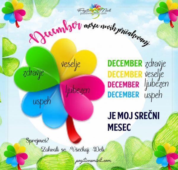 December - naj te sreča spremlja cel mesec