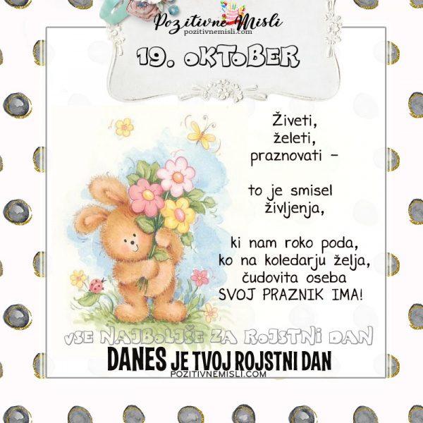 19. oktober - voščilo za rojstni dan - Pozitivčice