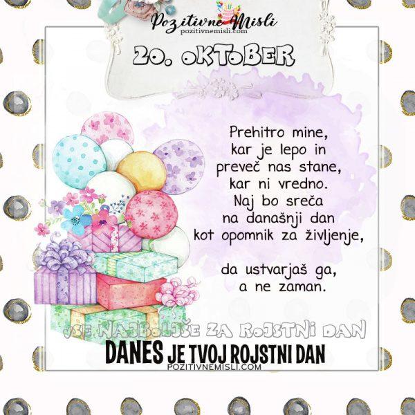 20. oktober - voščilo za rojstni dan - Pozitivčice