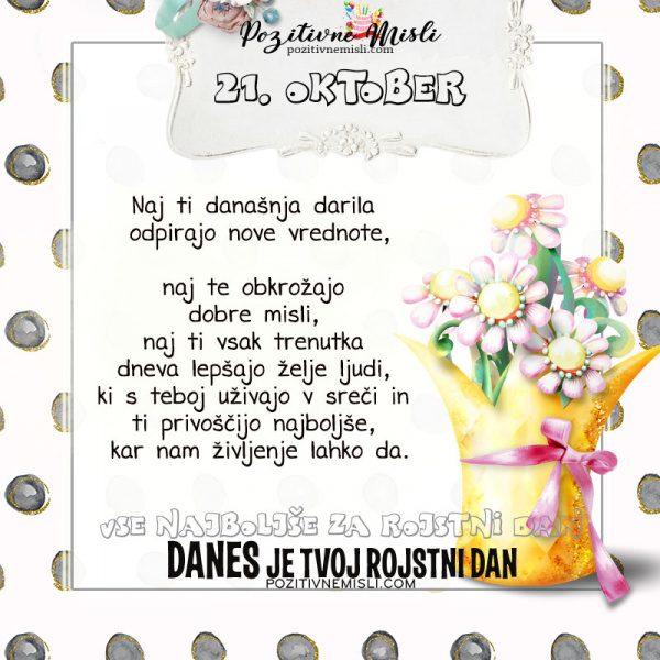 21. oktober - voščilo za rojstni dan - Pozitivčice