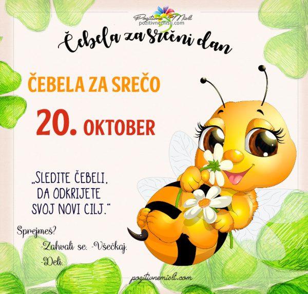 20. oktober - 365 srečnih dni - čebela za srečo