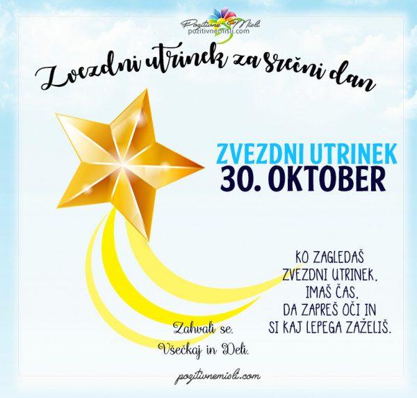 30. oktober - 365 srečnih dni - zvezdni utrinek za srečo
