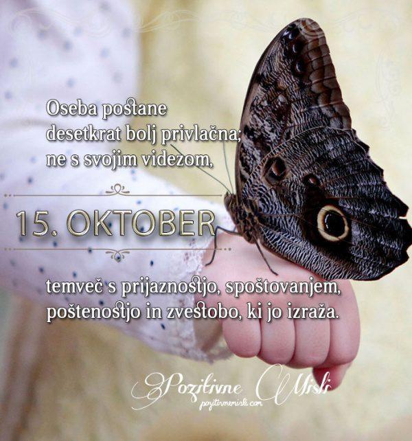 15. oktober - 365 misli koledar lepih misli o življenju