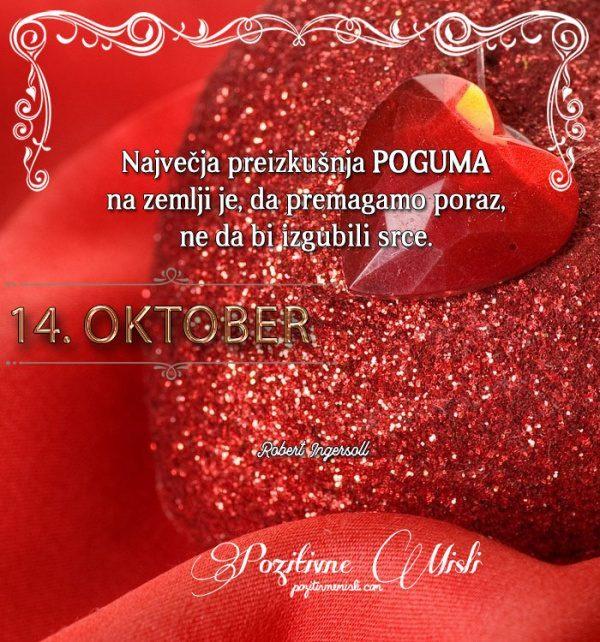 14. oktober - 365 misli koledar lepih misli o življenju