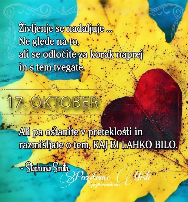 17. oktober - 365 lepih misli življenja