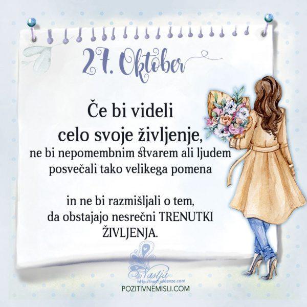 27. Oktober- Pozitivčica za današnji dan