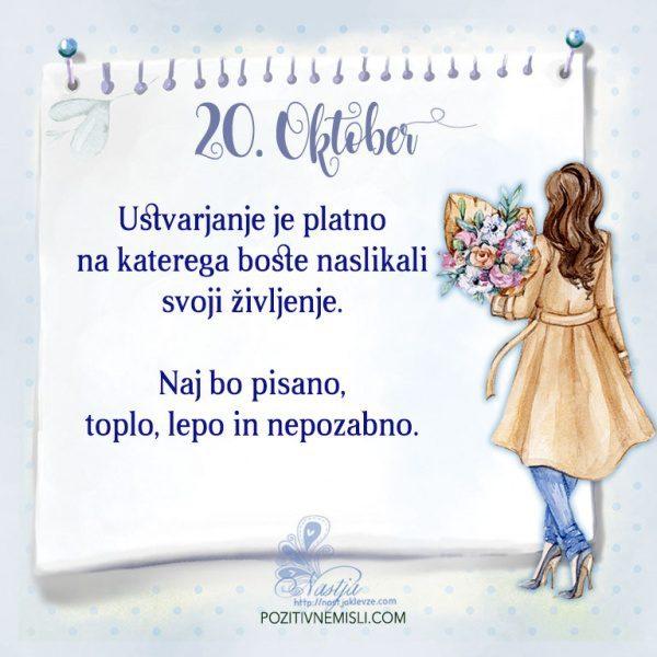 20. Oktober - Pozitivčica za današnji dan