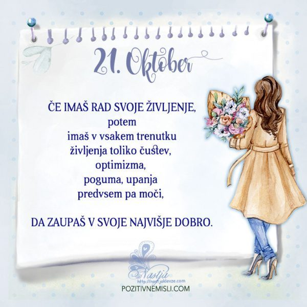 21. Oktober - Pozitivčica za današnji dan