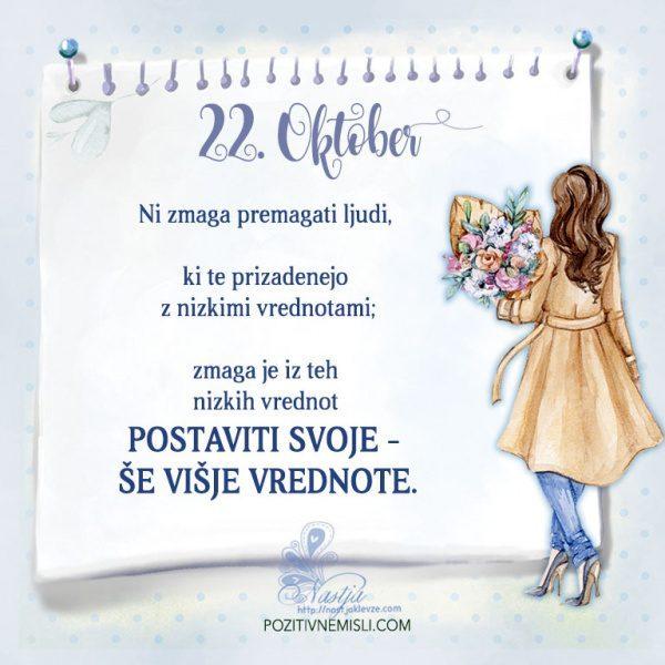 22. Oktober - Pozitivčica za današnji dan - Nastja Klevže
