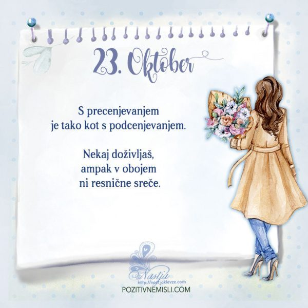 23. Oktober - Pozitivčica za današnji dan