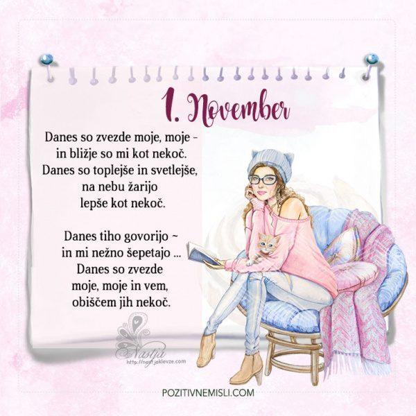1. November - Pozitivčica za današnji dan - Nastja Klevže