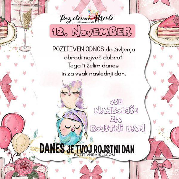 12. november voščilo za rojstni dan - Pozitivčica
